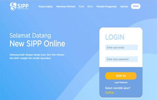 Cara Daftar SIPP Online