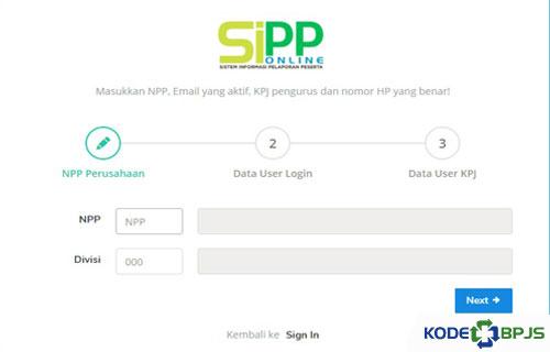 Langkah langkah Daftar SIPP Online