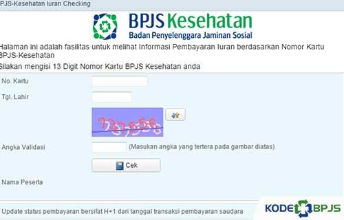 1. Cara Mengecek Pembayaran BPJS Kesehatan lewat Website