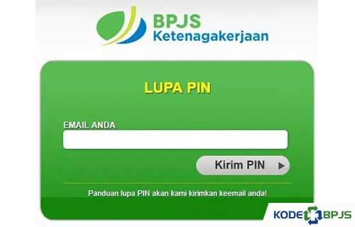 Lup PIN BPJS Ketenagakerjaan