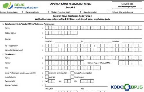 Cara Mengisi Formulir 3 KK 1 BPJS Ketenagakerjaan