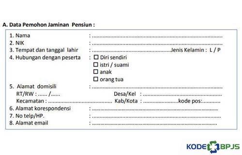 Data Pemohon Jaminan Pensiun