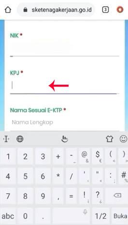 Masukkan Nomor KPJ
