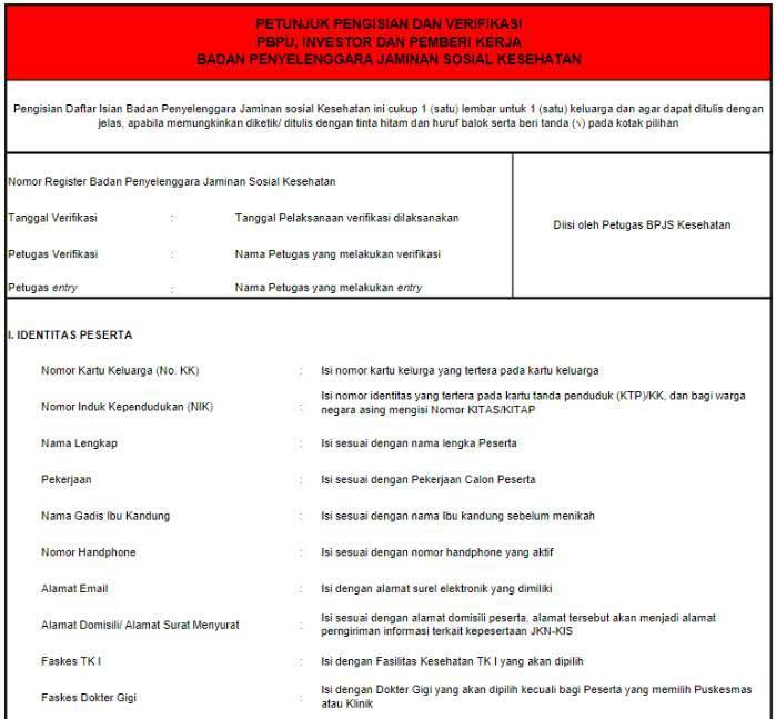 Formulir Mutasi BPJS Kesehatan 1
