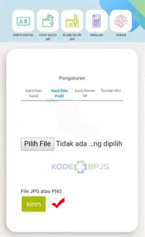 Pilih File dan Klik Kirim