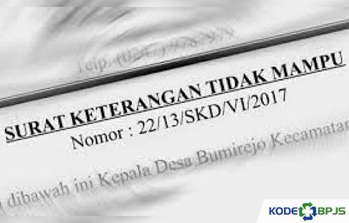 Surat Keterangan Tidak Mampu Untuk BPJS Kesehatan Terbaru