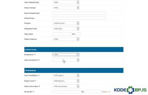 Lengkapi Info Administrasi