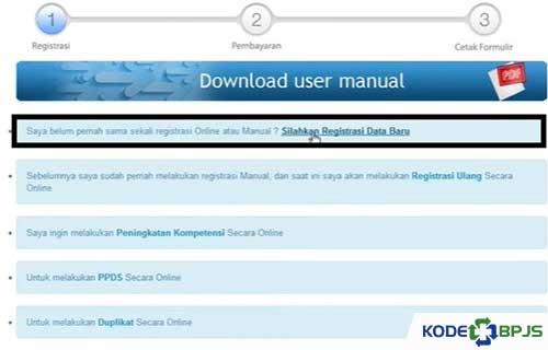 Silahkan Registrasi Data Baru