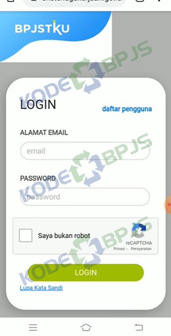 1. Buka Aplikasi BPJSTKU