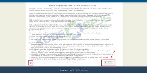3. Baca Syarat Ketentuan Pendaftaran