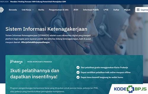Cara Daftar Melalui Website Kemnaker
