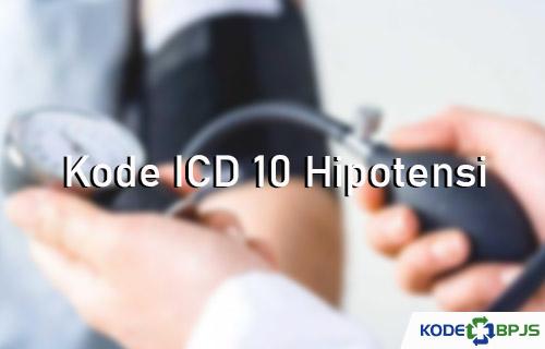 Kode ICD 10 Hipotensi