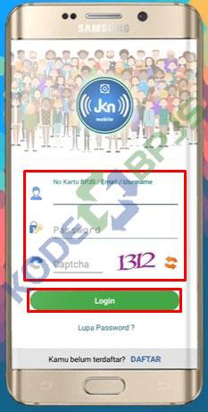 2. Login Aplikasi JKN Mobile