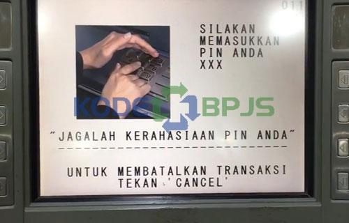 2. Masukkan PIN ATM
