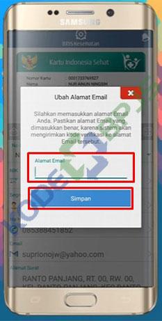 5. Masukkan Email Baru