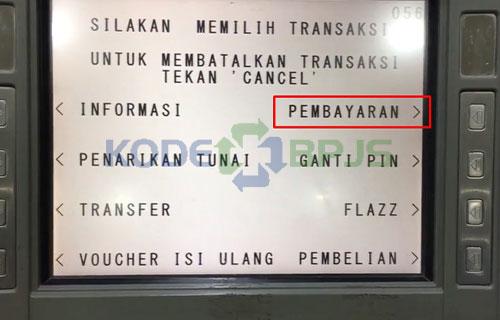 5. Pilih Menu Pembayaran