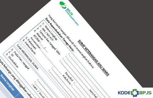 Contoh Surat Keterangan Ahli Waris Untuk BPJS ketenagakerjaan 1